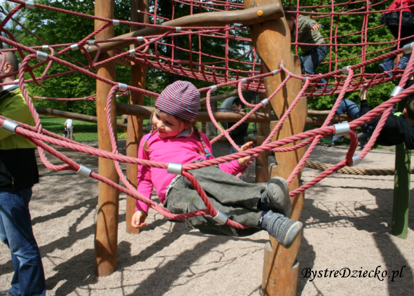 Małpi gaj - Plac zabaw dla dzieci we Wrocławiu w Parku Klecińskim