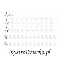 Nauka pisania literek z dużą czcionką - Ą