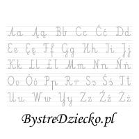 Abecadło - nauka pisania dla dzieci, duża czcionka