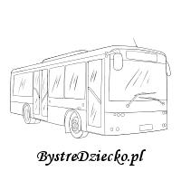 Kolorowanka autobus i ćwiczenia grafomotoryczne