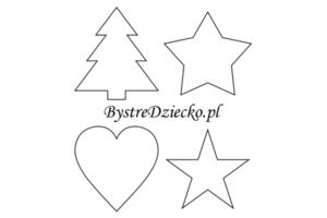 Szablony dekoracji świątecznych do wydrukowania dla dzieci