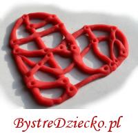 Serce na walentynki wykonane z domowej ciastoliny