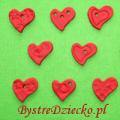 Prezent na walentynki - serca z ciastoliny jako zawieszki lub wisiorki