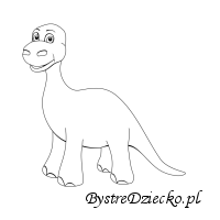 Młody dinozaur do kolorowania
