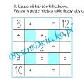 Nauka dodawania dla dzieci w zakresie 20 - grafy matematyczne, krzyżówka liczbowa - karty pracy do wydruku