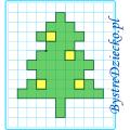Choinka na Boże Narodzenie jako dyktando graficzne, strzałki, nauka kodowania i programowanie dla dzieci - karty pracy do wydruku na zimę