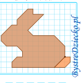 Zajączek Wielkanocny lub domowy królik jako dyktando graficzne, strzałki, nauka kodowania i programowanie dla dzieci - karty pracy do wydruku