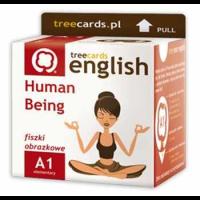 Fiszki język angielski – Human Being – istota ludzka, człowiek – Treecards, A1