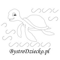 Ćwiczenia grafomotoryczne z żółwiem morskim