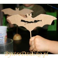 Nietoperze z kartonu - zajęcia plastyczne dla dzieci z dekoracjami na Halloween