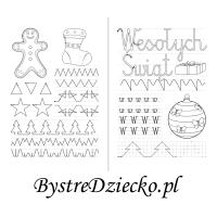 Nauka pisania literek dla dzieci i szlaczki do rysowania po śladzie - w jak Wesołych Świąt