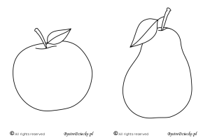 Apple and pear - free printable coloring pages for kids