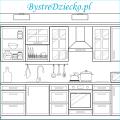 Dom kolorowanki dla dzieci - kuchnia do kolorowania; coloring page for kids - kitchen as one of the home rooms