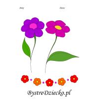 Kolorowanka dla dzieci do wydrukowania kwiaty
