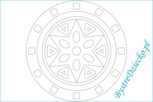 Mandala kolorowanki dla dzieci; mandala coloring page for kids
