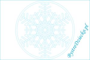 Mandala kolorowanki dla dzieci na zimę - płatek śniegu; mandala coloring page for kids, winter acitivity, snowflake