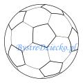 Sportowe kolorowanki dla dzieci - piłka do piłki nożnej do kolorowania