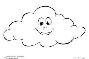 Pogoda pochmurna jako kolorowanki dla dzieci - chmura kolorowanka