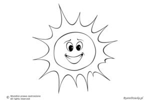 Pogoda słoneczna jako kolorowanki dla dzieci - słońce kolorowanka