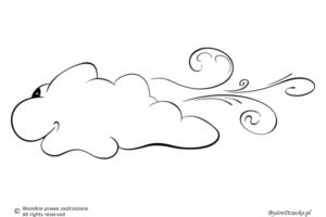 Pogoda wietrzna jako kolorowanki dla dzieci - wiatr kolorowanka