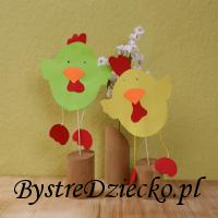 Zajęcia plastyczne dla dzieci w przedszkolu - 'Dzień otwartych drzwi - Wiosna' - kurczaki z papieru