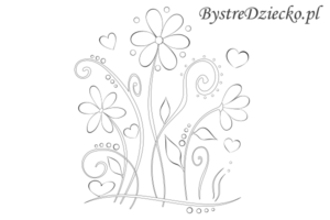 Laurki z kwiatami, kolorowanki do wydruku, kartki okolicznościowe - flowers coloring pages for printing, flowers greeting cards