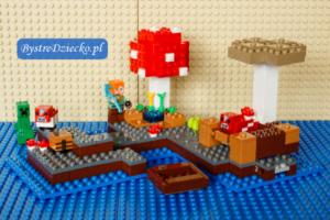 Recenzja Lego Minecraft Grzybowa Wyspa 21129, test klocków LEGO