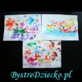Malowanie słomką - ćwiczenia logopedyczne
