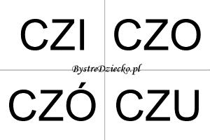 Nauka czytania sylabami dla dzieci - CZ
