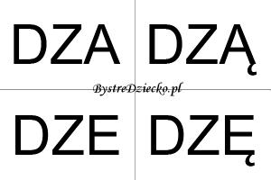 Nauka czytania sylabami dla dzieci - DZ