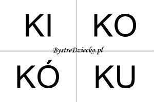 Nauka czytania sylabami dla dzieci - K