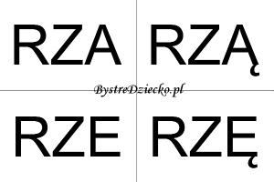 Nauka czytania sylabami dla dzieci - RZ