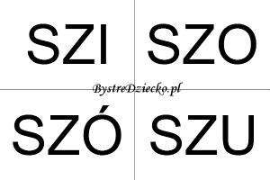 Nauka czytania sylabami dla dzieci - SZ