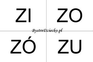 Nauka czytania sylabami dla dzieci - Z