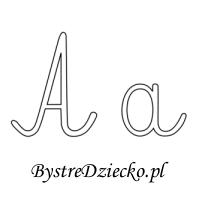 Nauka literek - szablony z czcionką pisaną