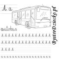Nauka pisania literek – a jak autobus