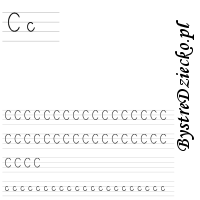 Nauka pisania literek – c