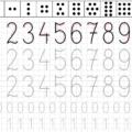 Nauka pisania cyferek dla dzieci - pisanie po śladzie w zakresie od 0 do 10