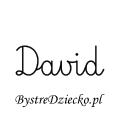 Karty pracy z imionami - nauka pisania imion dla dzieci - David