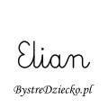Karty pracy z imionami - nauka pisania imion dla dzieci - Elian