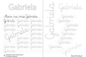 Karty pracy z imionami - nauka pisania imion dla dzieci - Gabriela