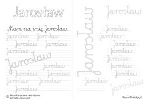 Karty pracy z imionami - nauka pisania imion dla dzieci - Jarosław
