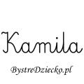 Karty pracy z imionami - nauka pisania imion dla dzieci - Kamila