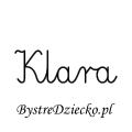 Karty pracy z imionami - nauka pisania imion dla dzieci - Klara