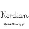 Karty pracy z imionami - nauka pisania imion dla dzieci - Kordian