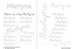 Karty pracy z imionami - nauka pisania imion dla dzieci - Martyna