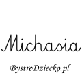 Karty pracy z imionami - nauka pisania imion dla dzieci - Michasia