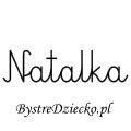 Karty pracy z imionami - nauka pisania imion dla dzieci - Natalka
