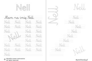 Karty pracy z imionami - nauka pisania imion dla dzieci - Nell