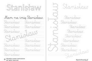 Karty pracy z imionami - nauka pisania imion dla dzieci - Stanisław